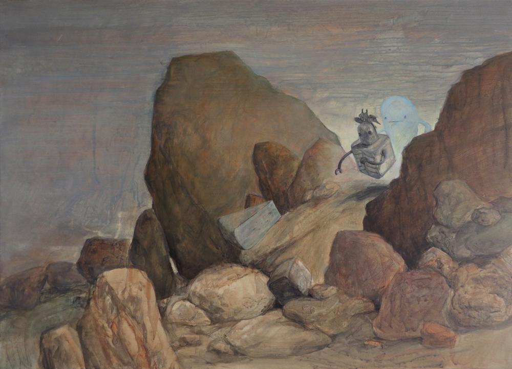 Wim Legrand  'El Muerte'  Oil on canvas  50 x 70 cm