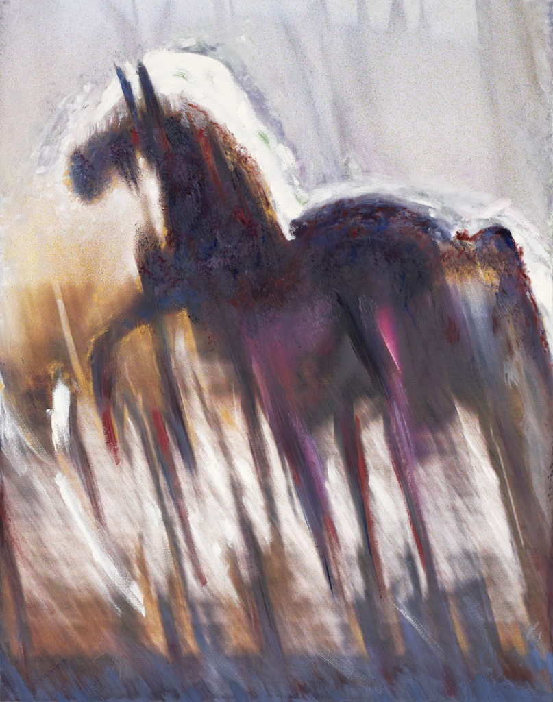 Andrew Hart Adler  'Equine VII'  Mixed media on canvas  123 x 97 cm