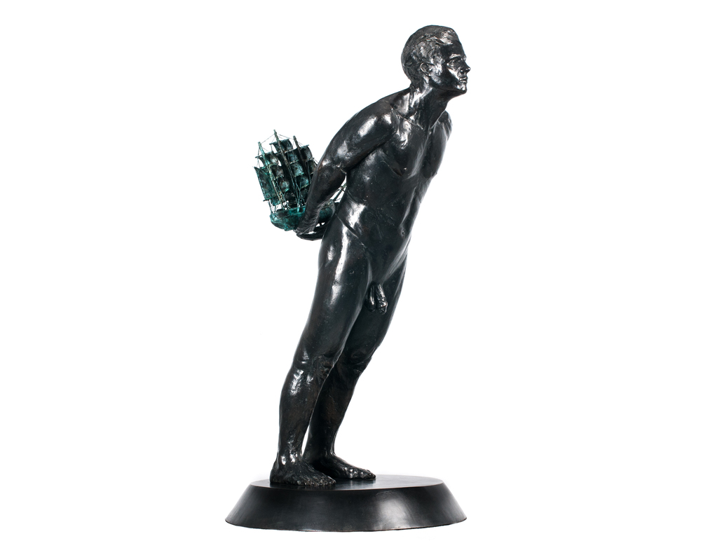Adriaan Diedericks  'Figurehead Disposition I'  Bronze, edition of 8  105 x 28  x 48 cm