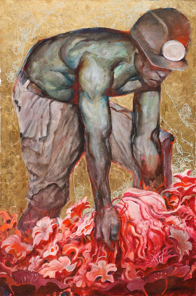 Daniel Clarke  'Untitled XIV'  Mixed media on canvas  91 x 61 cm