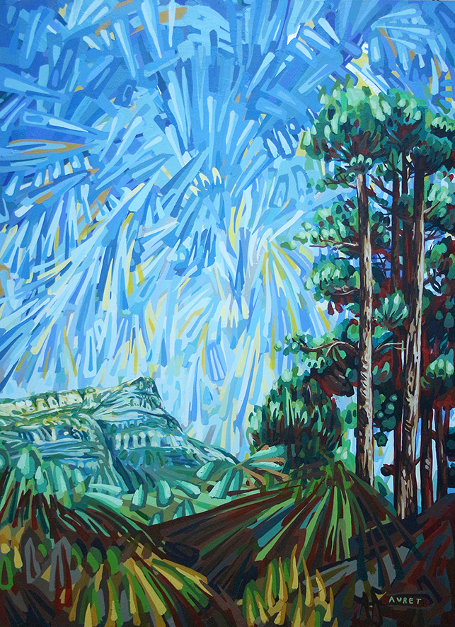 Chris Auret  'Constantia Nek'  Acrylic on canvas  121,5 x 89 cm