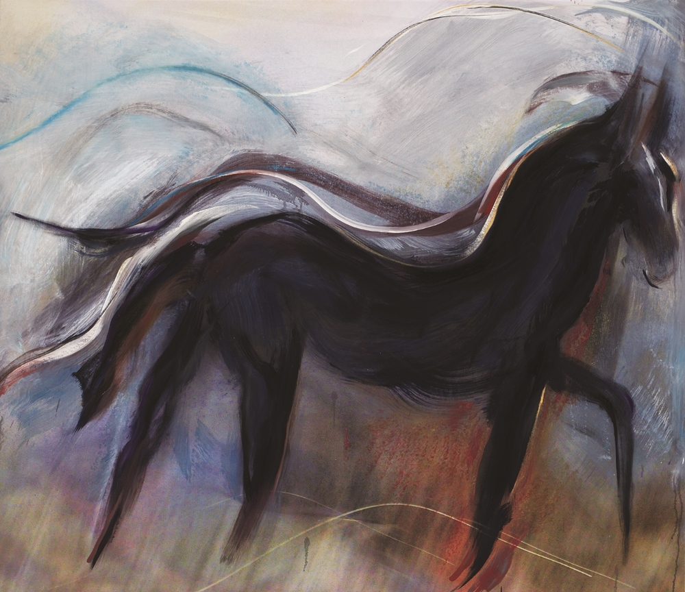 Andrew Hart Adler  'Equine VIII'  Mixed media on canvas  138 x 160 cm