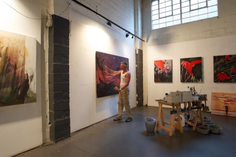 Adler in his Woodstock studio