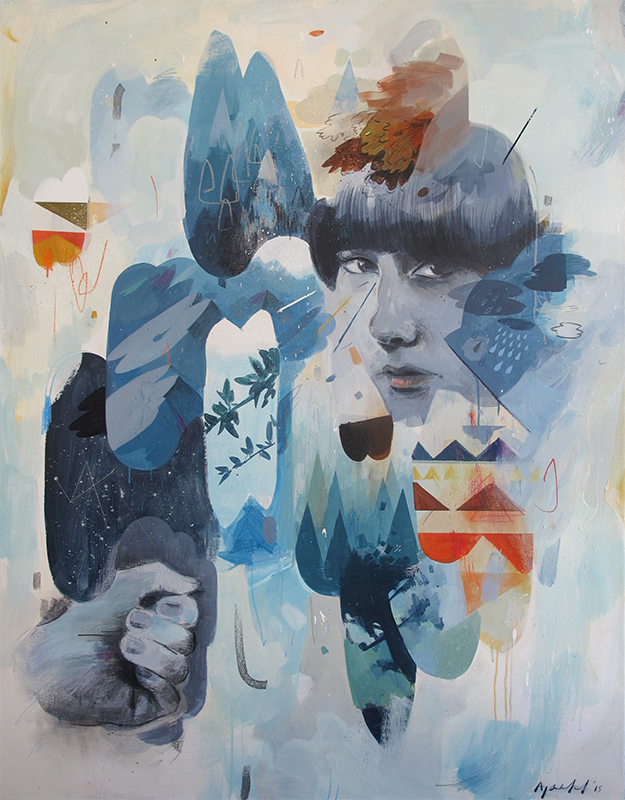 Andrew Sutherland  'Remnants of a Journey'  Mixed media on canvas  140 x 110 cm