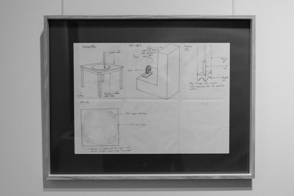 Gregory Stock  'A Space Between' technical drawings  Ink on paper  (image courtesy of Carl Jacobs)