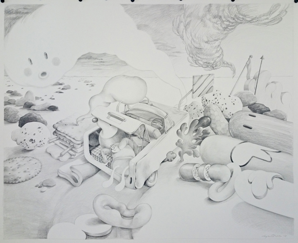 Wim Legrand  'Victim of a Confidence Trick'  Pencil on Arches paper  110 x 120 cm