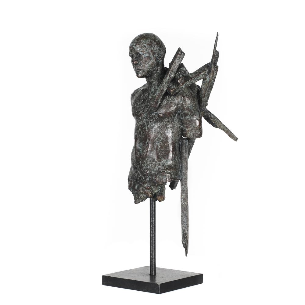 Adriaan Diedericks  'Burden (maquette)'  Bronze, ed/12  38 x 20 x 10 cm