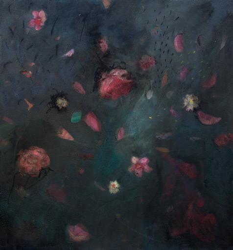 Cathy Layzell  'Incarnation'  Oil on canvas  80 x 80 cm