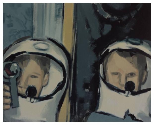 Charisse Gardiner  'Spaceman'  Oil on canvas  80 x 100 cm