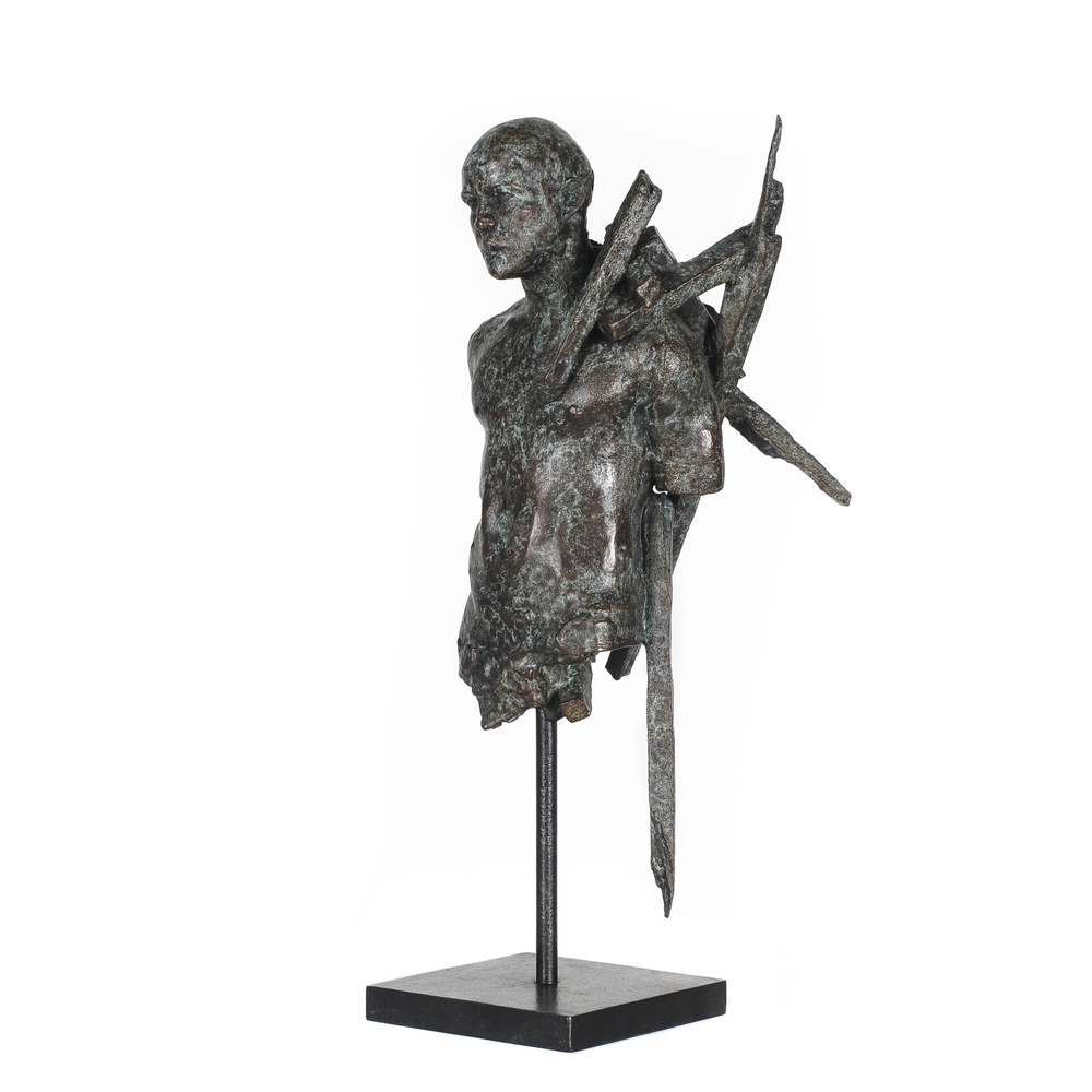 Adriaan Diedericks  'Burden (maquette)'  Bronze, edition of 12  38 x 20 x 10 cm