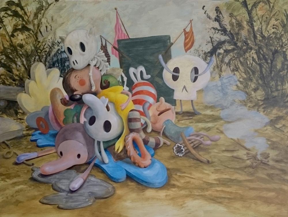 Wim Legrand  'Cumulus Heap'  Acrylic on canvas  60 x 80 cm