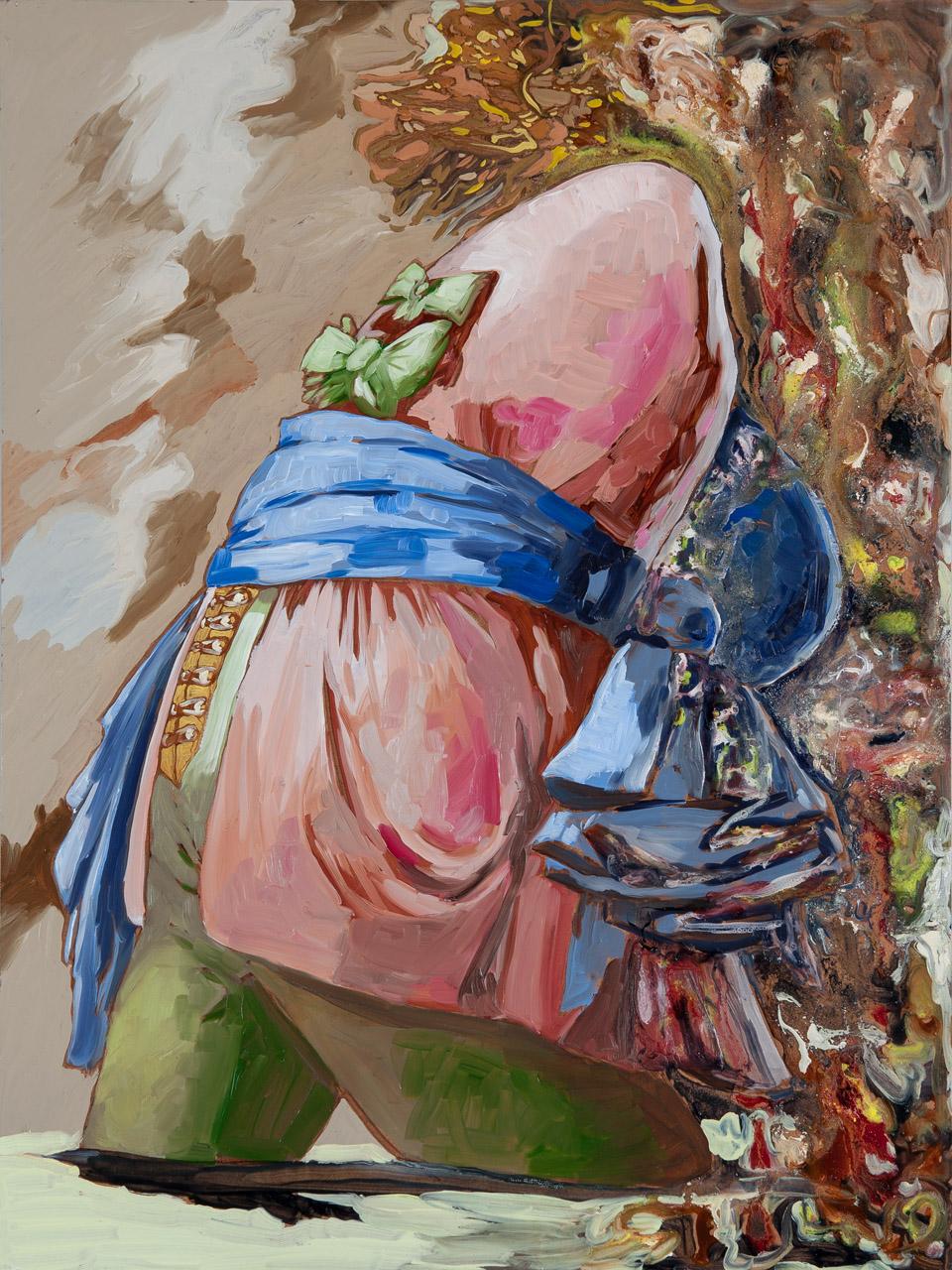 Lizza Littlewort  'The Custodian of History'  Oil on board  80 x 60 cm