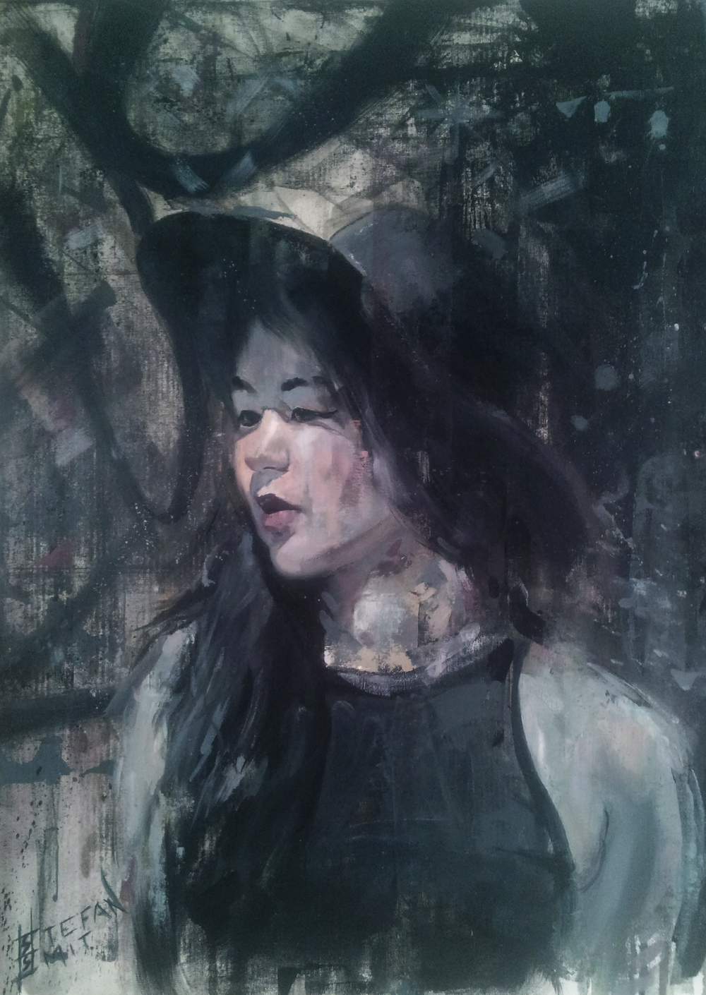 Stefan Smit  'Purpose'  Oil on canvas  71 x 56,5 cm