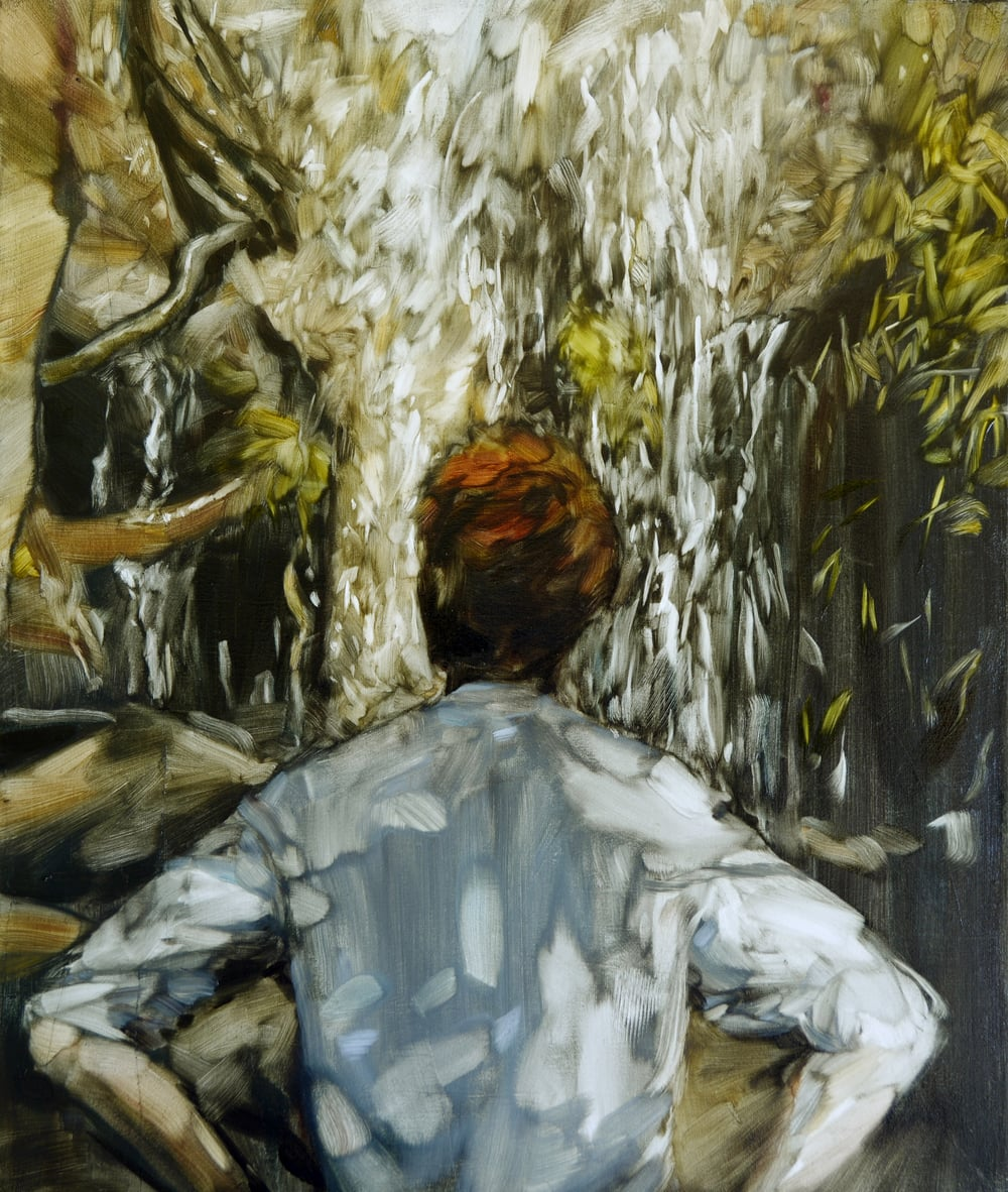Heidi Fourie  'Oil Falls'  Gif or oil on canvas