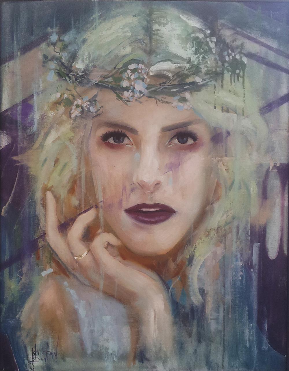 Stefan Smit  'Streets Find Light'  Oil on canvas  71 x 56 cm