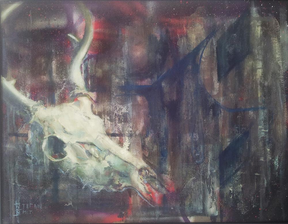 Stefan Smit  'Fractures'  Oil on canvas  40.5 x 51 cm