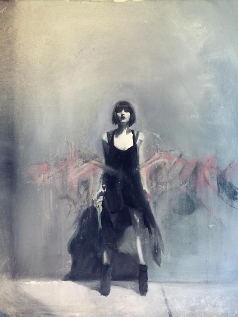Chris Valentine  'Merge'  Oil on canvas board  71 x 56 cm