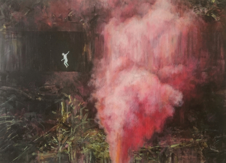 Karen Cronje  'Existential Crisis'  Oil on primed paper