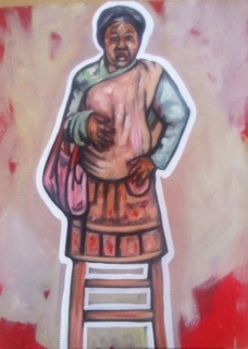 Khaya Sineyile  'Step Mother'  Oil on canvas  80 x 60 cm