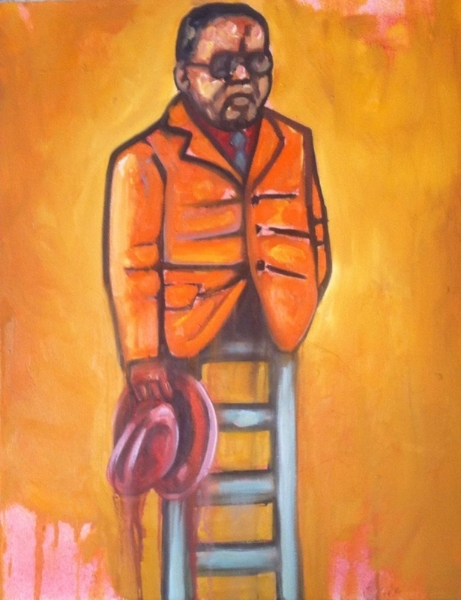 Khaya Sineyile  'Step Father'  Oil on canvas  90 x 70 cm