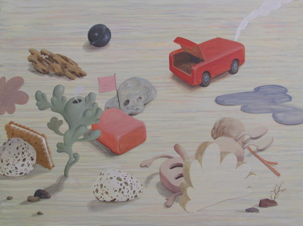 Wim Legrand  'Hot, Flat & Crowded 3'  Acrylic on board  60 x 80 cm