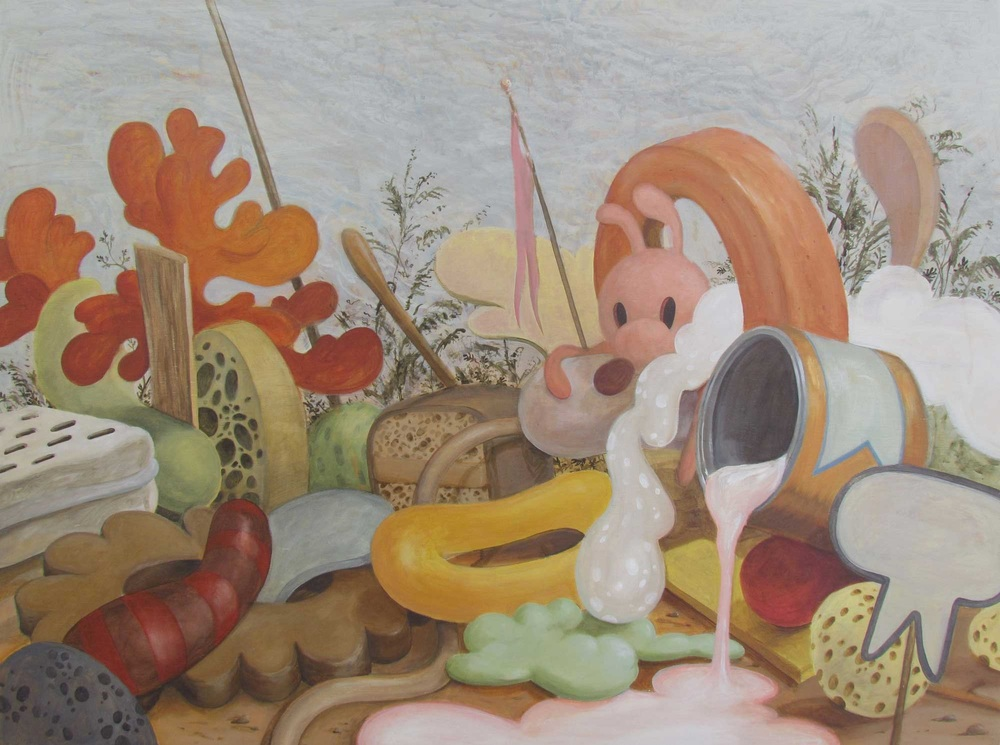 Wim Legrand  'Foretelling abundance'  Acrylic on board  60 x 80 cm
