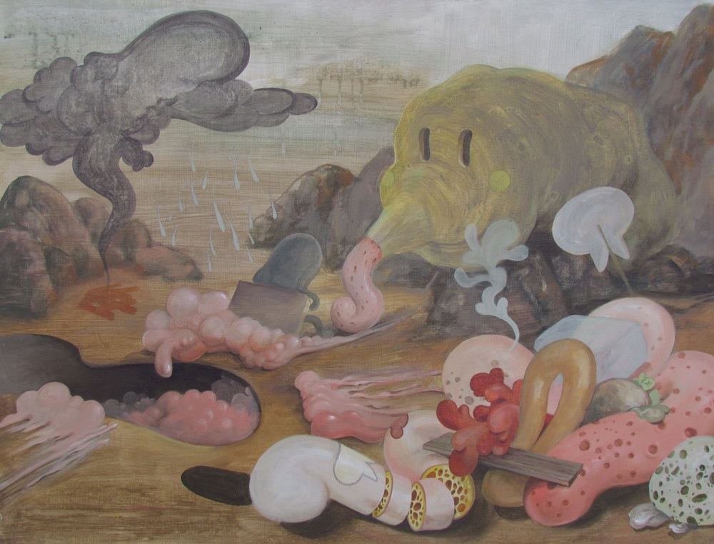 Wim Legrand  'I was told there would be cake'  Acrylic on board  60 x 80 cm