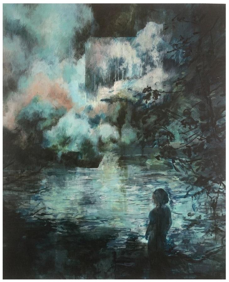 Karen Cronje  'Calamity Frontiers'  Acrylic & gouache on primed paper  42 x 34 cm