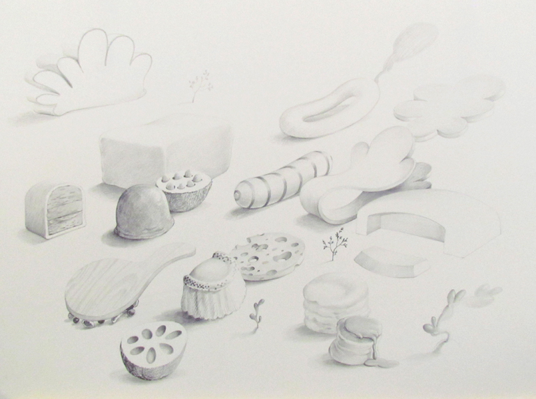 Wim Legrand  'Untitled'  Pencil on Waterford paper  56 x 76 cm