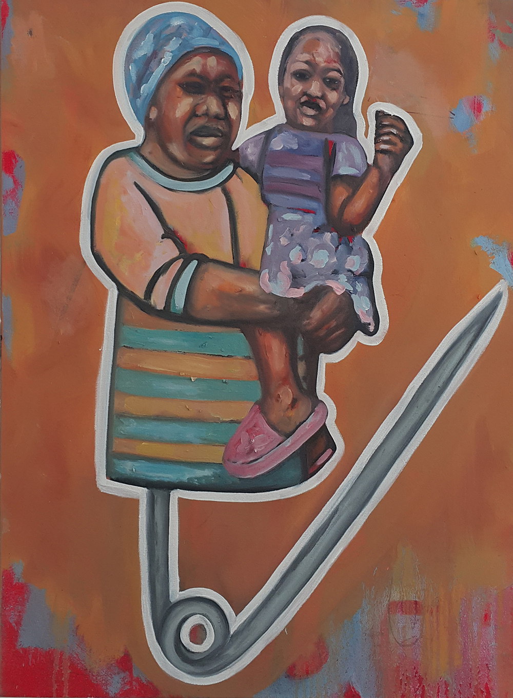 Khaya Sineyile  'Legitimate Child'  Oil on canvas  80 x 60 cm