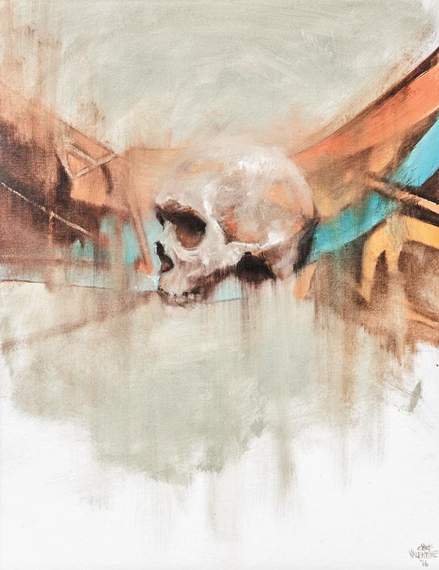 Chris Valentine  Blueprint  Oil on canvas board  71 x 56 cm