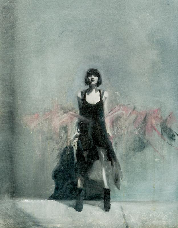 Chris Valentine  Merge  Oil on canvas board  71 x 56 cm