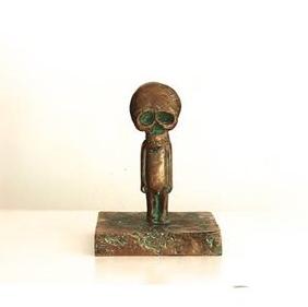 Samuel Allerton  Skull Boy  Bronze  17 x 12.5 x 12.5 cm