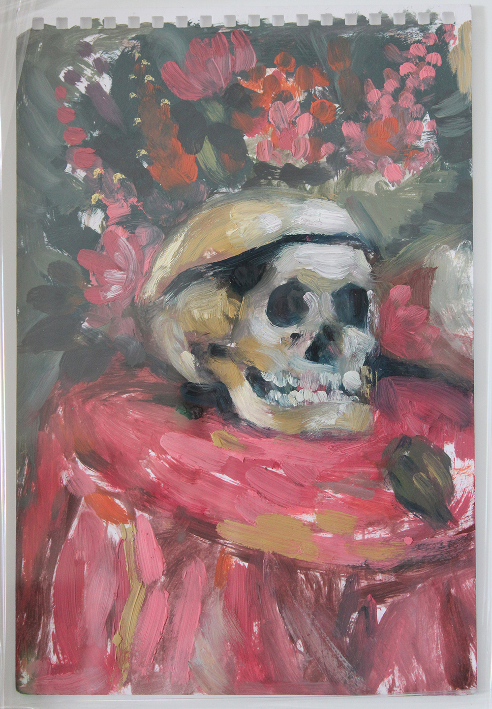 Alice Toich  Vanitas Study  Oil on paper  23.5 x 13.5 cm