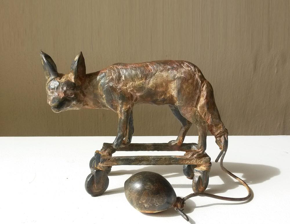 Cornelia Stoop  Jest  Bronze 02/30  13 x 16 cm