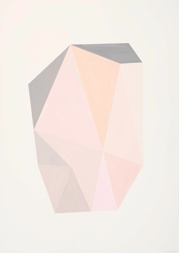 Nicole Levenberg  'Untitled (Nude Crystal)'  Oil on paper  100 x 70,5 cm