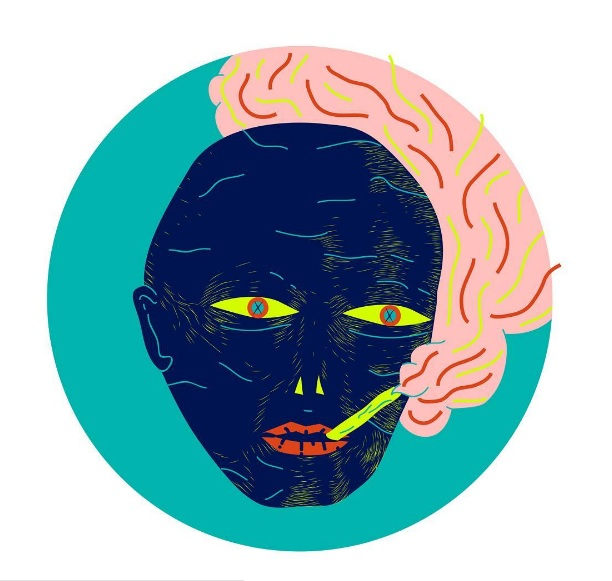 Bianca Brand  'Smoking Habits'  Digital print, ed/05  24 x 24 cm