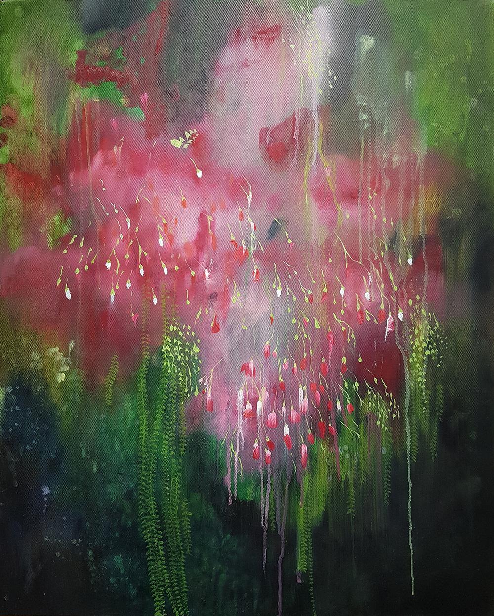 Katrine Claassens  'Night Garden'  Oil on board  76 x 60.5 cm