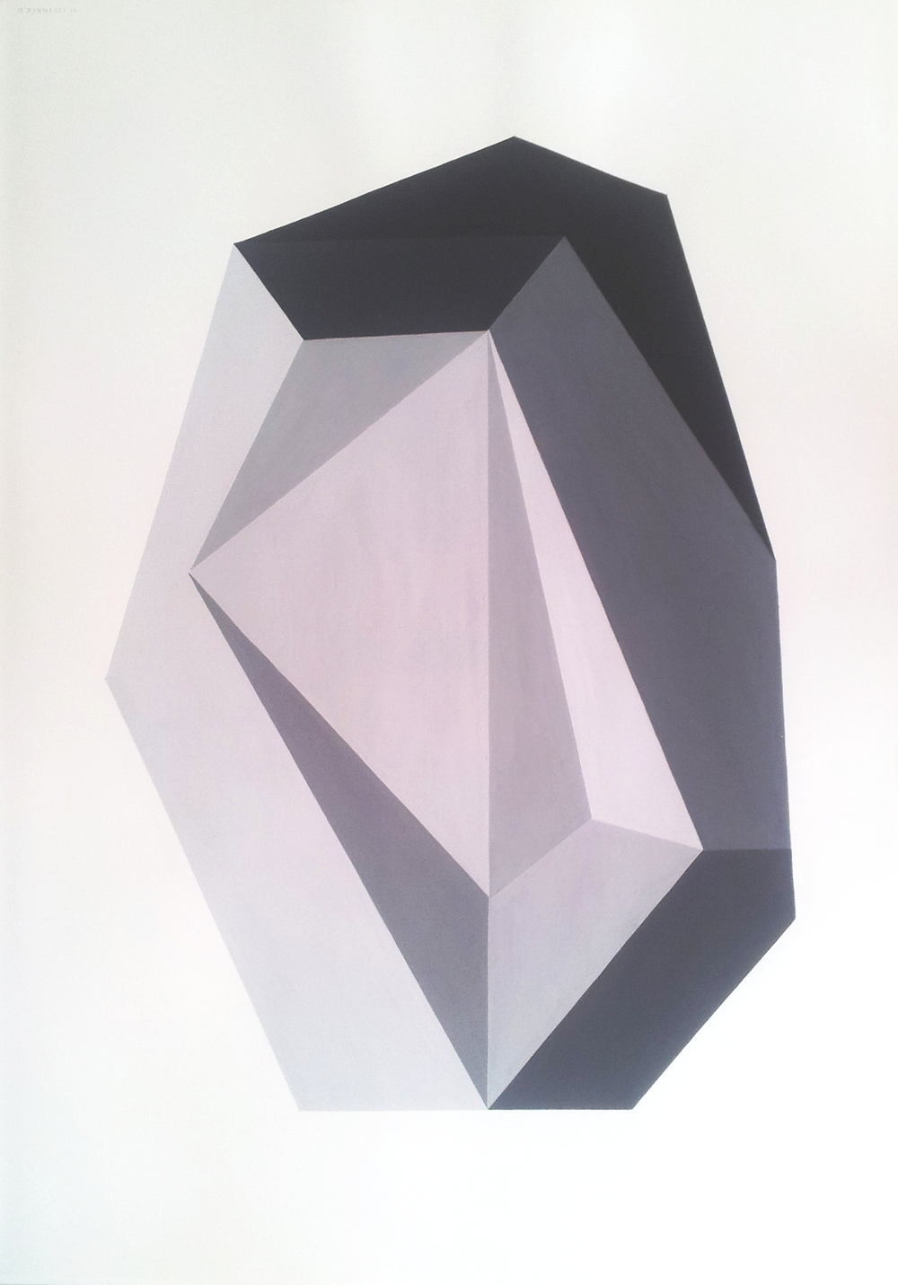 Nicole Levenberg  'Untitled (Dark Crystal)'  Oil on paper  100 x 70.5 cm