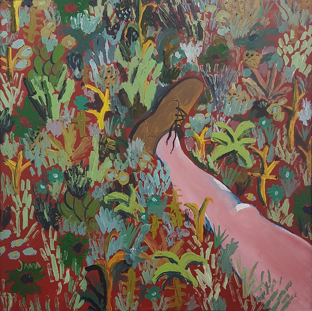 John-Michael Metelerkamp  'After a Week of Misanthropy 2'  Acrylic on Panel  90 x 90 cm