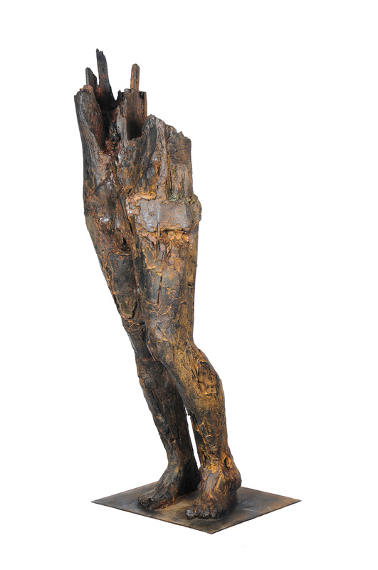 Adriaan Diedericks  De-Trunk  Bronze / resin & marble dust, ed. of 12  153 x 50 x 40 cm