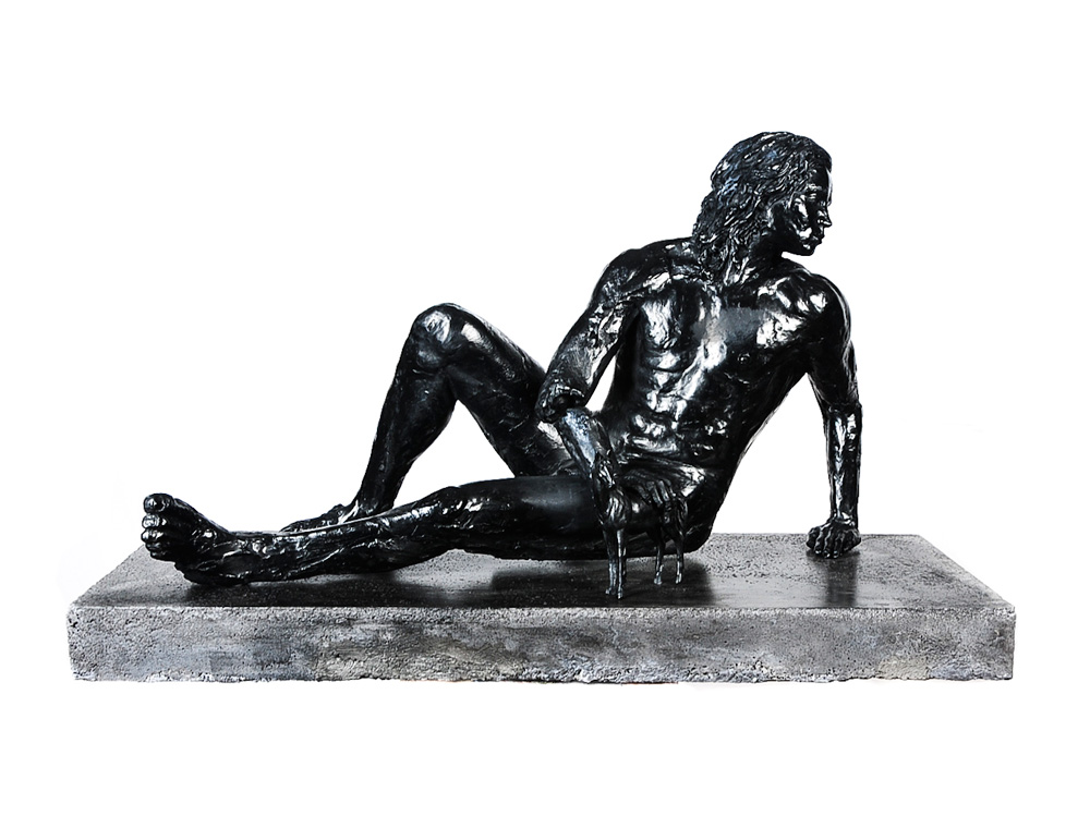 Adriaan Diedericks  Dolus-Dolos II  Bronze / resin & marble dust, ed. of 12  58 x 38 x 90 cm