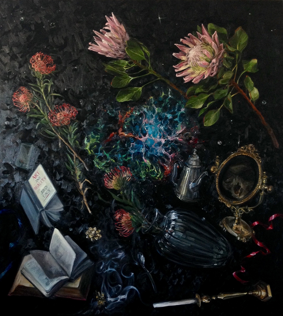 Alice Toich  'Deconstructed Still Life: Finding the Universe in a Flower'  Oil on canvas  170 x 150 cm