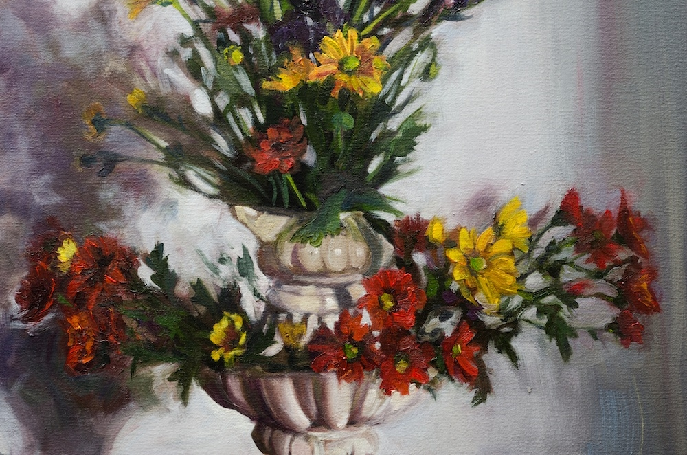 Alice Toich  Detail from 'Sunday Strelitzias'  Oil on canvas  100 x 150 cm