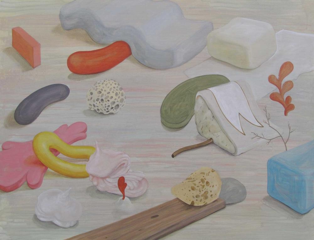 Wim Legrand  Hot, Flat & Crowded 2  Acrylic on board  60 x 80 cm