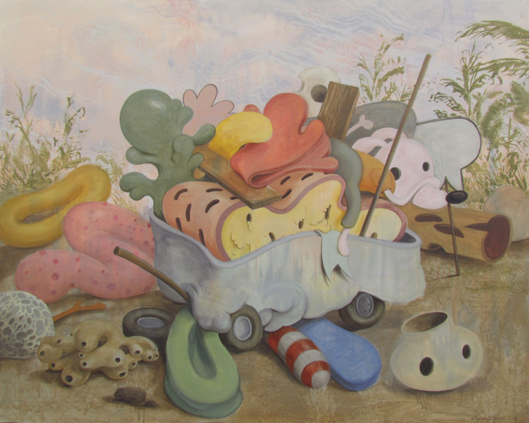 Wim Legrand  'Lost and Found'  Acrylic on canvas  80 x 100 cm