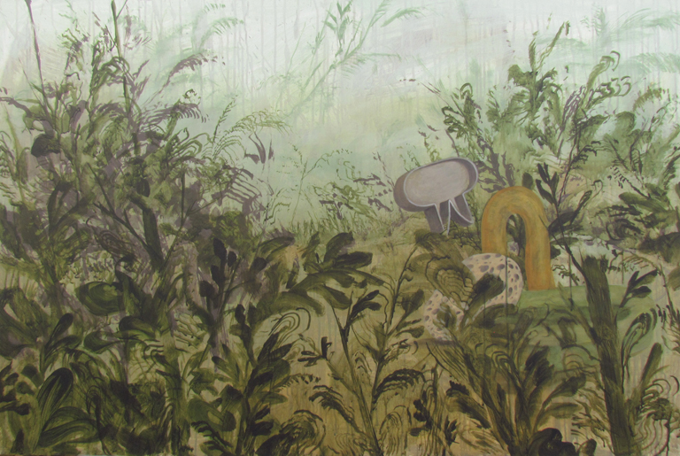 Wim Legrand  'Ramshackle Forest 2'  Acrylic on board  80 x 120 cm
