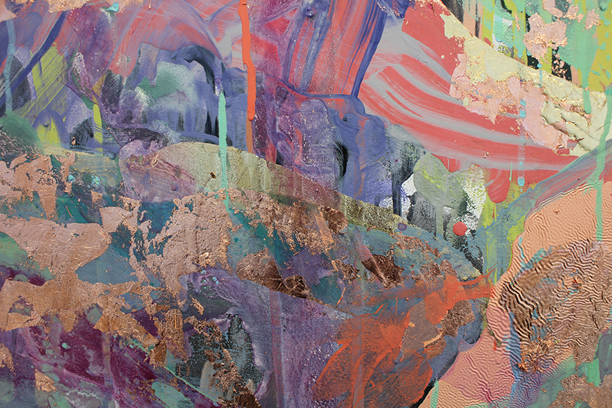 Anastasia Pather  Detail from Outsider: Muscle Memory  Mixed media on canvas  170 x 100 cm