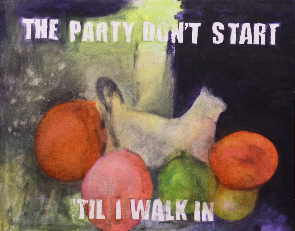 Katrine Claassens  'The Party Don't Start Til I Walk In'  Oil on canvas