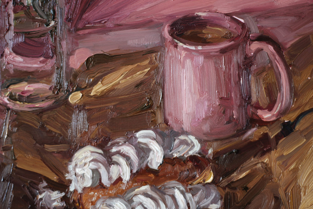 Detail from 'Thank god for Monday teatime' by Alice Toich